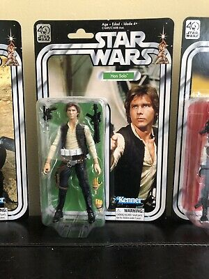 Star Wars The Black Series 6-Inch 40th Anniversary Lot Han Solo And R5-D4