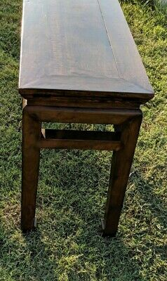 RARE ANTIQUE CHINESE TABLE! BEAUTIFUL WOOD! ROSEWOOD? Make offer!