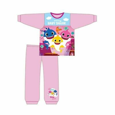 Girls Kids Toddler Baby Shark Pyjamas Pjs Song Doo Doo 18 Months - 5 Years. New