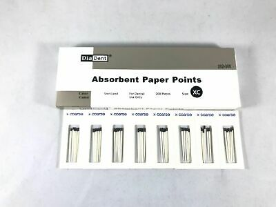 DIADENT Absorbent Paper Points Sterilized Color Coded 200/Pack Cell Pack Size XC