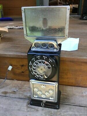 Automatic Electric Payphone Upper Housing 29S Lock Key Old Phone Telephone