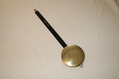Large Wood And Brass Vienna Pendulum In Excellent Condition - 450mm Long