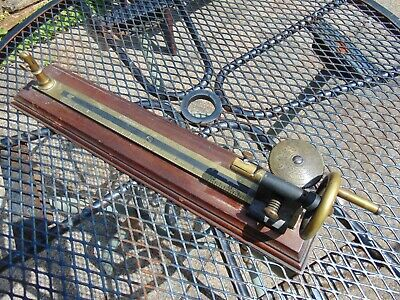 19th CENTURY BRASS MAHOGANY TEXTILE WEAVING MILL COTTON YARN TESTING MACHINE