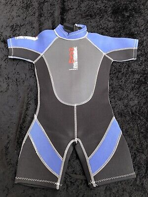 Childrens Toddlers Nalu Shortie Beach Wetsuit Age Size 4-5 Yrs - 24in Chest