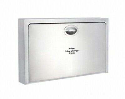 New Bradley Icn-962 Baby Change Table Horizontal - Silver Surface Mounted