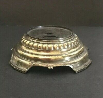 Solid Brass Patina Lamp Base With Feet Lamp Vase Statue Pedestal Steampunk