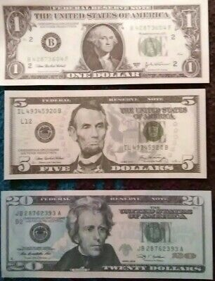 Movie prop, photography Version Of the $20,$5,$1 USD imported From Russia