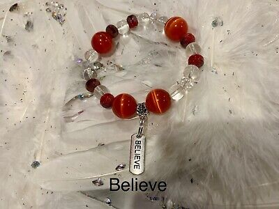 Code 559 Lucky Cat's Eye Believe Infused Bracelet Fortune Abundance Prosperity