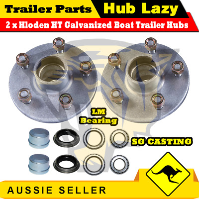 Superior Galvanized Boat Trailer Hubs Holden HT With Bearings - HLHTLMG
