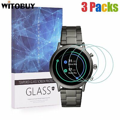 For Fossil CARLYLE HR Gen 5 Tempered Glass Screen Protector 9H Hardness(3 Packs)