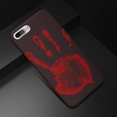 NEW Thermal Sensor Case for iPhone X 8 7 6s Plus Heat Induction Funny Cover