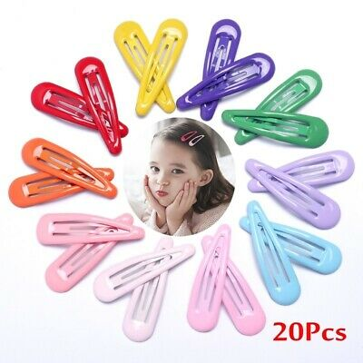 20Pcs Snap Hair Clips for Hair Clip Pins BB Hairpin Metal Barrettes Best Price!