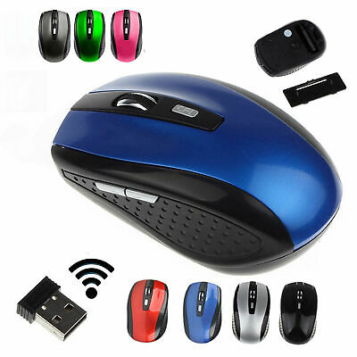 2.4GHz Wireless Cordless Mouse Mice Optical Scroll For PC Laptop Computer +USB