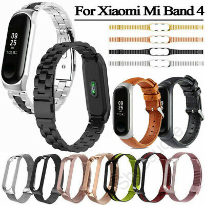 For Xiaomi Mi Band 4 2019 Milanese Loop/Leather Wrist Band Bracelet Watch Strap