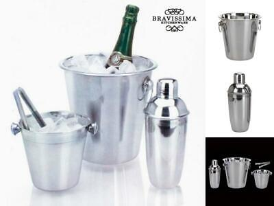 Eiskübel- and Cocktail-Shaker-Set Made from Stainless Steel (4 Piece)