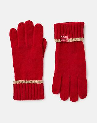 Joules 207388 Huddle Gloves in RED in One Size
