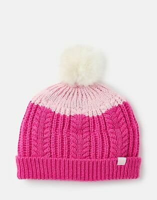 Joules 207152 Bobble Hat in PINK HAT
