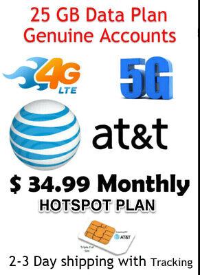 AT&T Unlimited 4G LTE 5G - For Truckers, RV's, Rural Areas - Bulk resell Availab