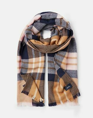 Joules 207391 Woven Longline Scarf in CAMEL CHECK in One Size