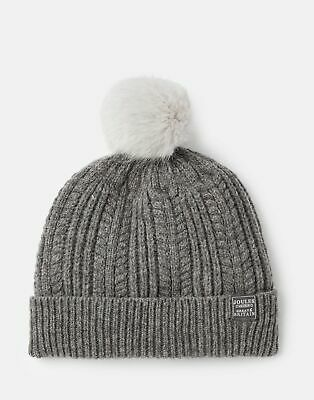 Joules 207389 Cable Hat in CHARCOAL in One Size