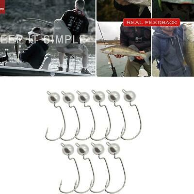 10pcs Exposed Lead Jig Head 3g Barbed Hook Soft Lure Hook Jigging H K9Z3 Fi X2C1