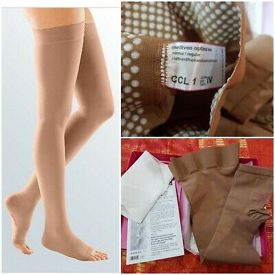 Mediven Optima One Band Thigh Medical Compression Stocking Open Toe Size 4 CCL 1