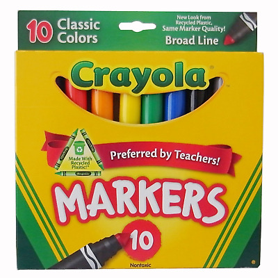 Crayola Broad Line Markers, Classic Colors 10 Each Pack of 24