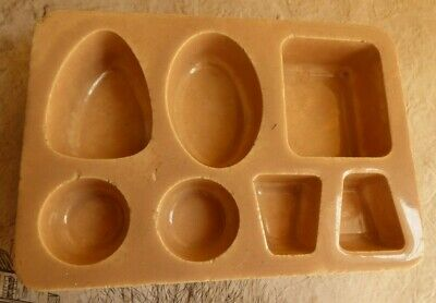 Antique mould ceramic glazed stoneware slip clay jewelry display
