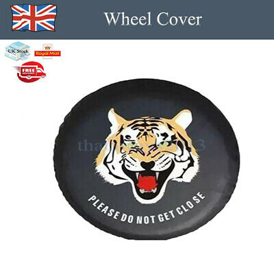 1x Car Tiger Animal Wheel Cover Rear Spare Tyre Wheel Cover PU Leather Protector