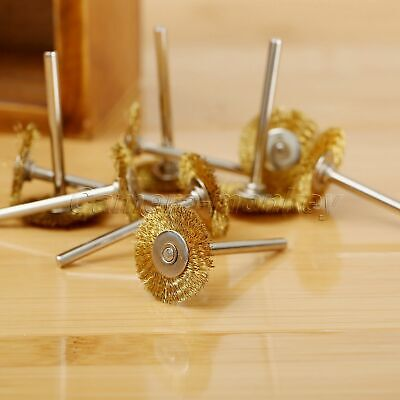 3.17mm Brass Wire Wheel Brushes for Weld Die Power Rotary Drill Rust Grinder UK