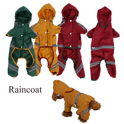 Waterproof Reflective Dog Raincoat Pet Coat Jacket Puppy Rainwear Clothing