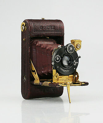GOERZ Roll-Tenax Deluxe Luxus Red Camera c.1922 w/ Gold-Plating - SCARCE (MZ51)