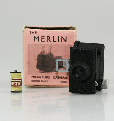 UNITED OPTICAL Merlin Subminiature Micro Camera c.1936 + Box & IMMACULATE (XZ5)