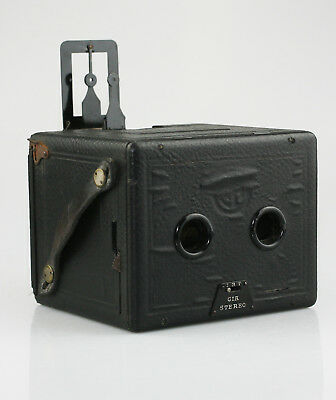 CIA Camera-Industrie Stereo Box Camera (Vienna - Austria) c.1920s (SZ12)