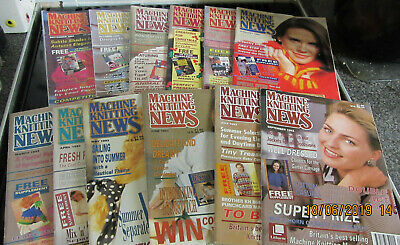 12 Machine Knitting News Magazines 1992 & 3 Complete With Supplements