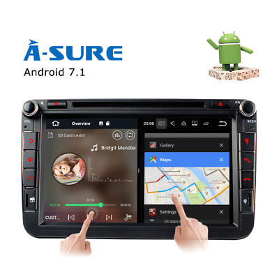 8 Zoll Android 7.1 Autoradio DVD CD GPS DAB+ für VW PASSAT GOLF TOURAN SHARAN T5
