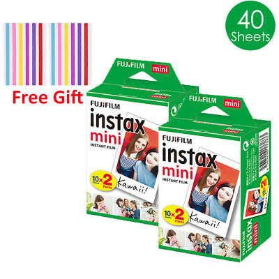 40 Sheets Fujifilm Instax Mini White Film For Fuji Instant Mini 9 8 7s 90 Camera