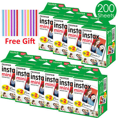 200 sheets Fujifilm Instax Mini Instant Film Fuji mini 9 8 70 7s Instant Photos