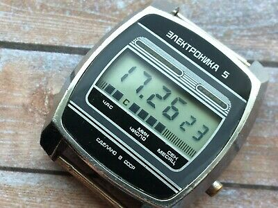 Watch Elektronika 5 30350 (B6-202) USSR LCD Men's 1980s