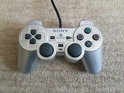 PS2 Sony Playstation DualShock2 SILVER Official Controller pad