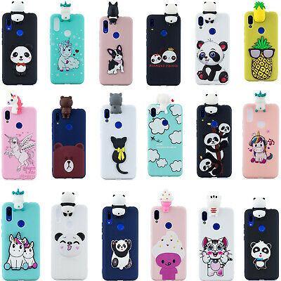 3D Cartoon Silicone Cover Case For Xiaomi Redmi Note 8 7 6 5 Pro 7 7A 6A Go K20