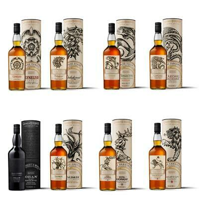 Game of Thrones Whisky Sammelset Alle Häuser Stark Lannister Tully Set 8x700ml