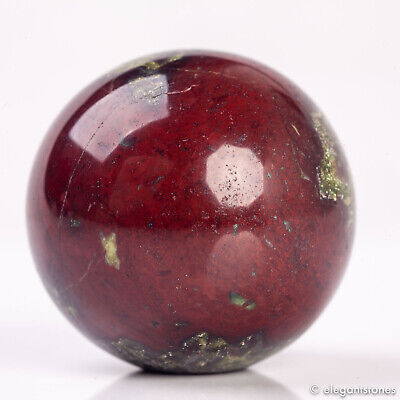 50g 32mm Natural Dragon Blood Stone Quartz Crystal Sphere Healing Ball Chakra