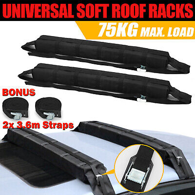 2x Car Roof Rack Soft Racks Luggage Skiing Snow Board Kayak Carrier Mount Holder