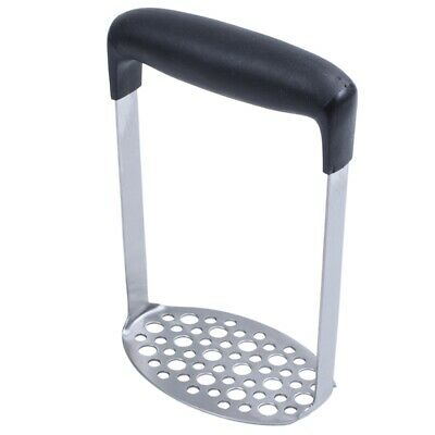 Stainless Steel Potato Masher with Broad and Ergonomic Horizontal Handle – Y7O9