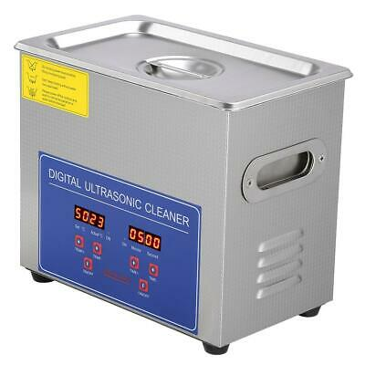 3L Digital Stainless Steel Ultrasonic Cleaner Timer Basket Cleaning Tank Ultra