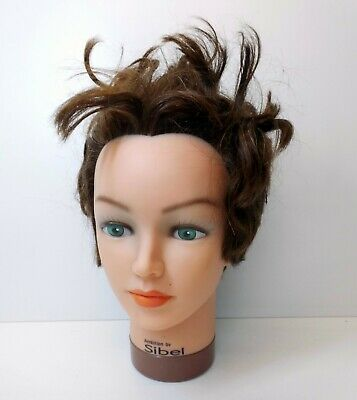Ambition by Sibel 100% Human Hair Styling Head - Hairdressing Salon Mannequin