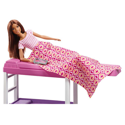 Barbie Doll And Furniture Loft Bed W Transforming Bunk Beds