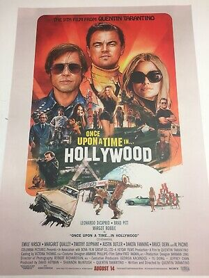 """Once Upon A Time In Hollywood LIMITED Double Crown CINEMA POSTER 27""""x20"""""""