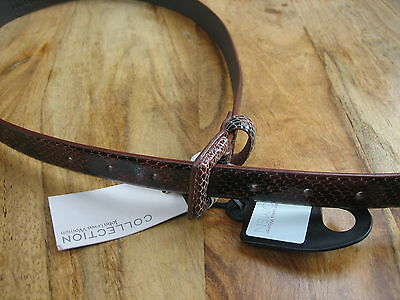 JOHN LEWIS WOMEN/'S TWO TONE LEOPARD INSERT BELT BROWN SMALL NEW RRP £35